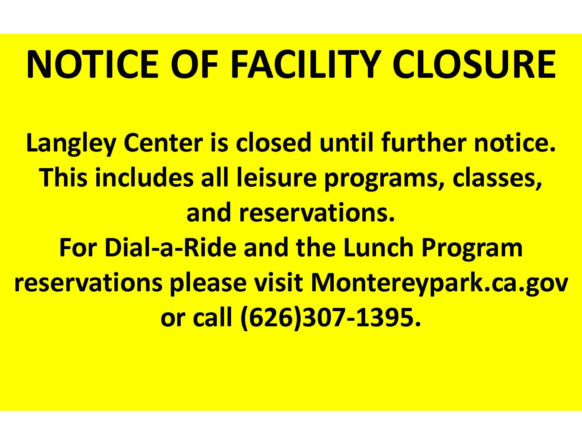 03-13-20 Langley Center Notice of Facility Closure COVID-19_Page_1