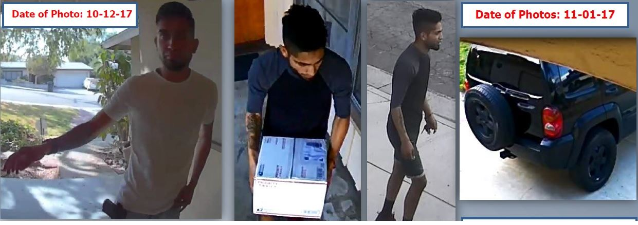 Package Theft Suspect and Vehicle