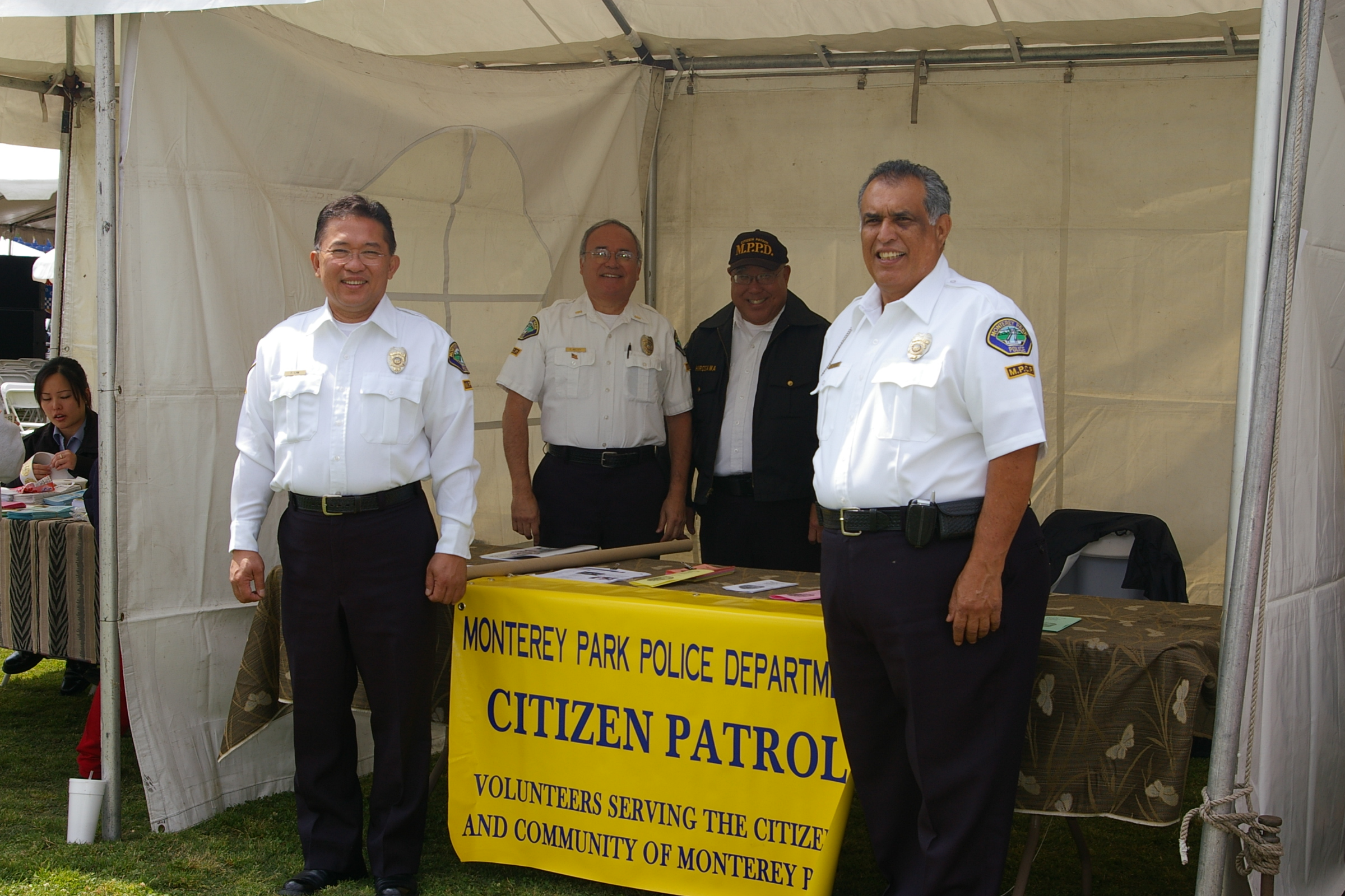 Officers at a Booth